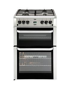 beko-bdvg694sp-60cm-double-oven-gas-cooker-silver