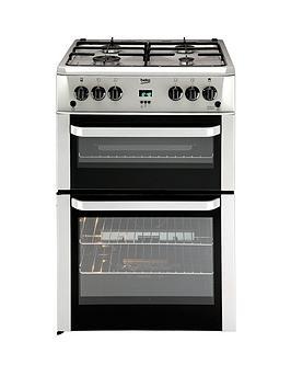 beko-bdvg694sp-60cm-double-oven-gas-cooker-silver