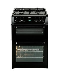 beko-bdvg694kp-60cm-double-oven-gas-cooker-with-fsd-black