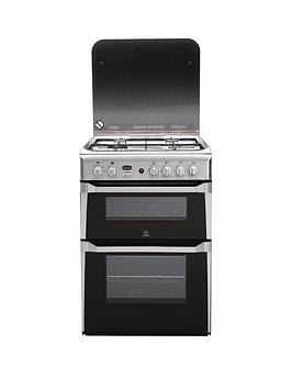 indesit-id60g2x-60cm-double-oven-gas-cooker-stainless-steel