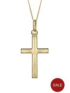 love-gold-9-carat-yellow-gold-cross-pendant