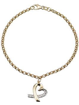 love-gold-9-carat-yellow-gold-heart-bracelet