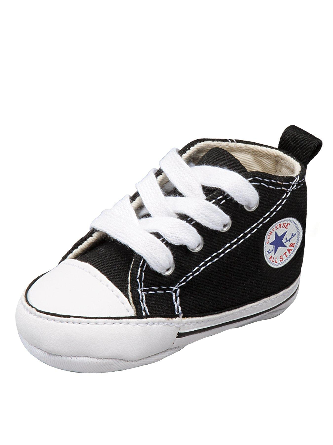 Converse First Star Crib Shoes Black - Black, Black