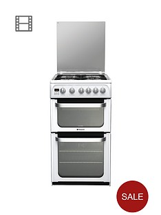 hotpoint-hug52p-50cm-double-oven-gas-cooker-with-fsd-white