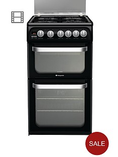 hotpoint-hug52k-50cm-gas-cooker-with-fsd-black