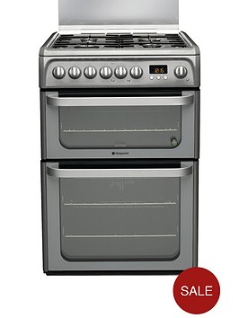 hotpoint-hud61gs-60cm-dual-fuel-cooker-graphite