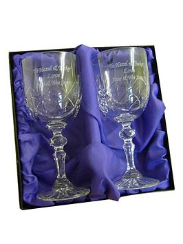 pair-of-crystal-wine-glasses