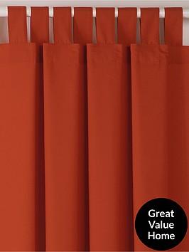 Curtains Ideas chocolate brown tab top curtains : Plain Dye Tab Top Curtains | very.co.uk
