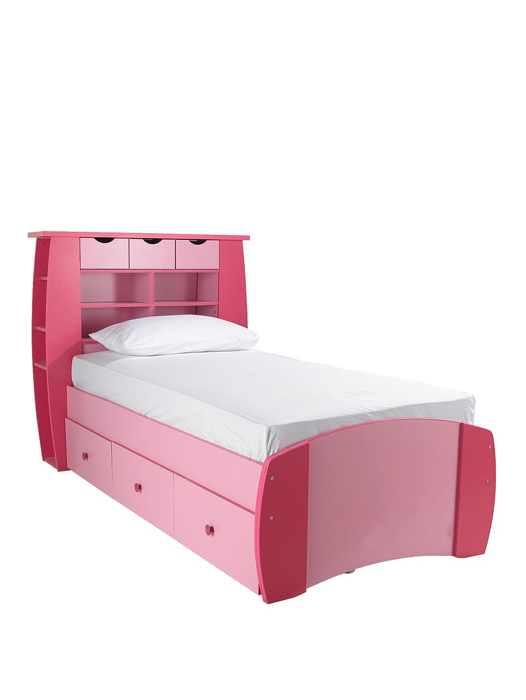 Kidspace Orlando Single Bed With Storage Shelves And Optional Mattress