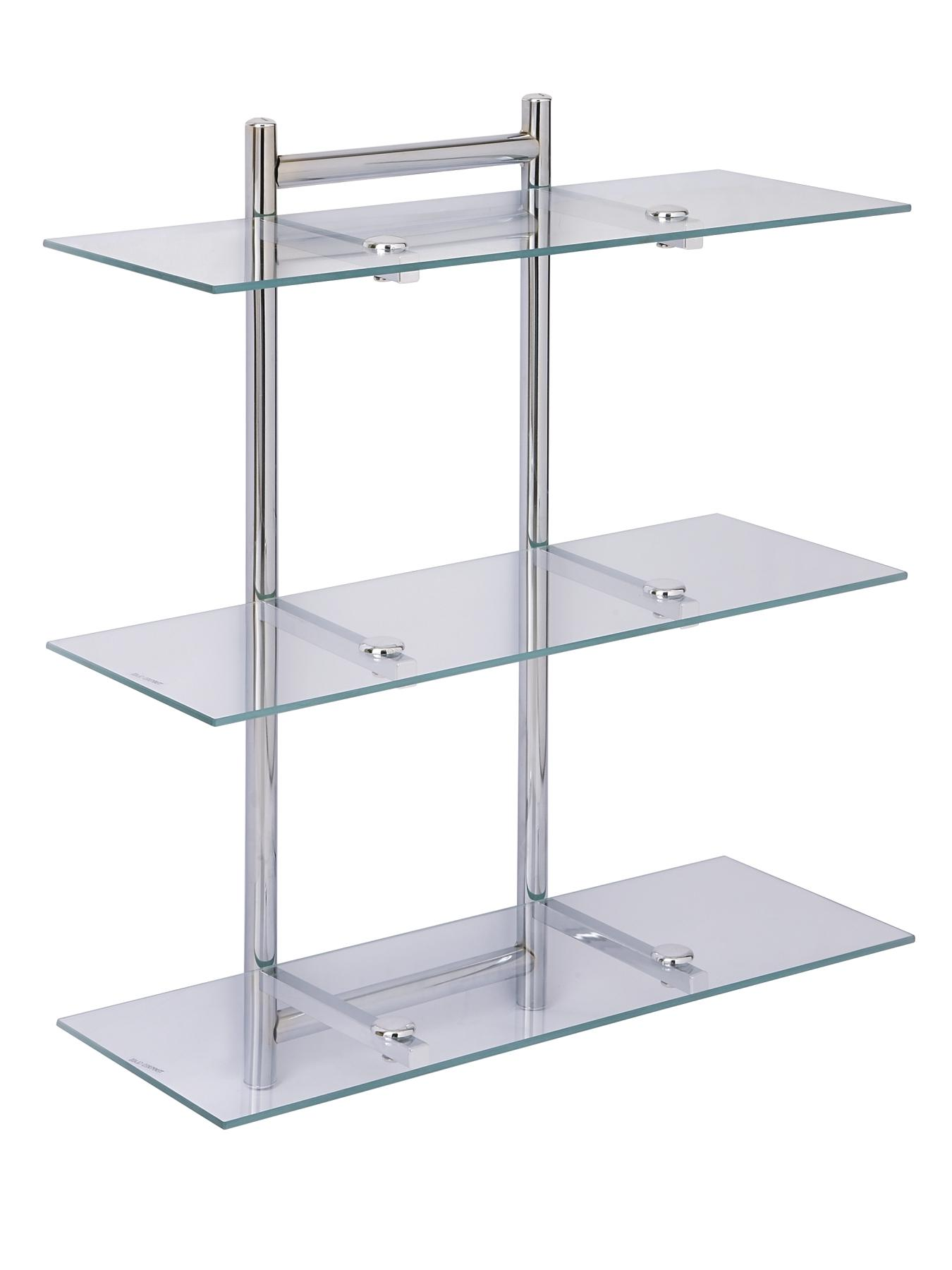 Aquarius 3 Tier Glass Bathroom Shelving Unit