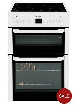 beko-bdvc667w-60cm-double-oven-electric-cooker-with-timer-white