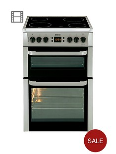 beko-bdvc667s-60-cm-double-oven-electric-cooker-with-timer-silver