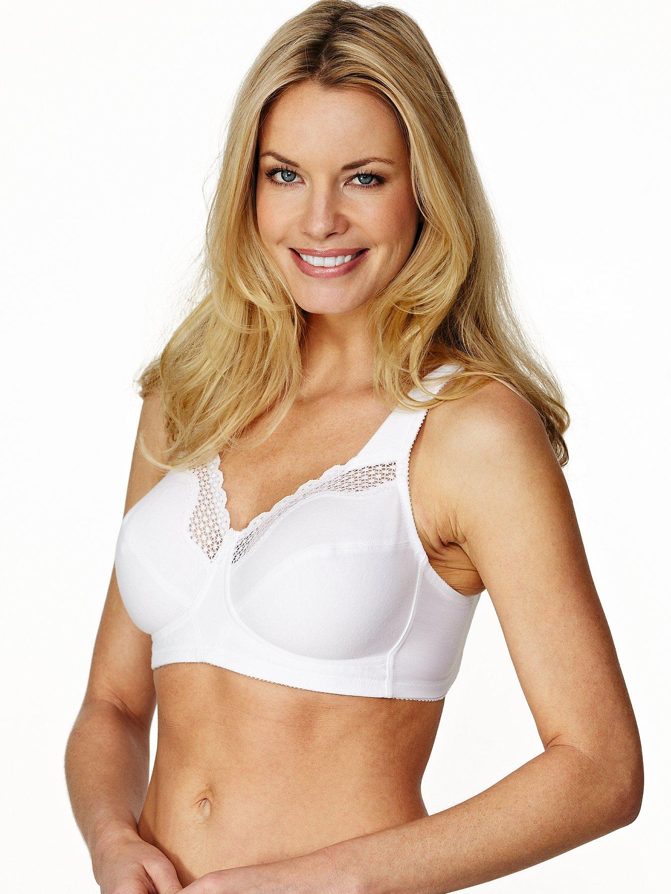 Bestform Soft Lace Trim Bra - White, White,Nude,Black