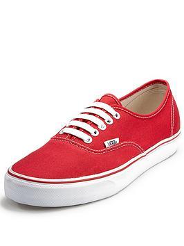 vans-authentic-mens-plimsolls-red