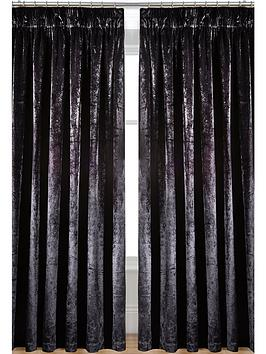 Curtains Ideas black velour curtains : Laurence Llewelyn-Bowen Curtain Call Velvet-effect Pencil Pleat ...