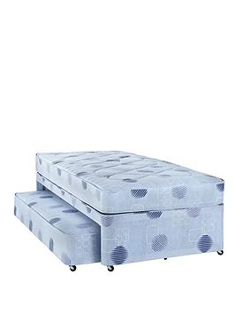 Airsprung single divan bed with low level guest bed very for Low single divan bed