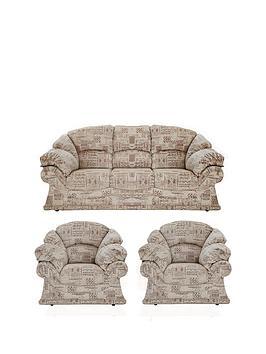 Harrow 3-Seater plus 2-Seater Fabric Sofa Set (Buy and SAVE!)