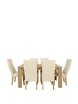 Joanna 150cm Table and 6 Buckingham Chairs (buy and SAVE!)