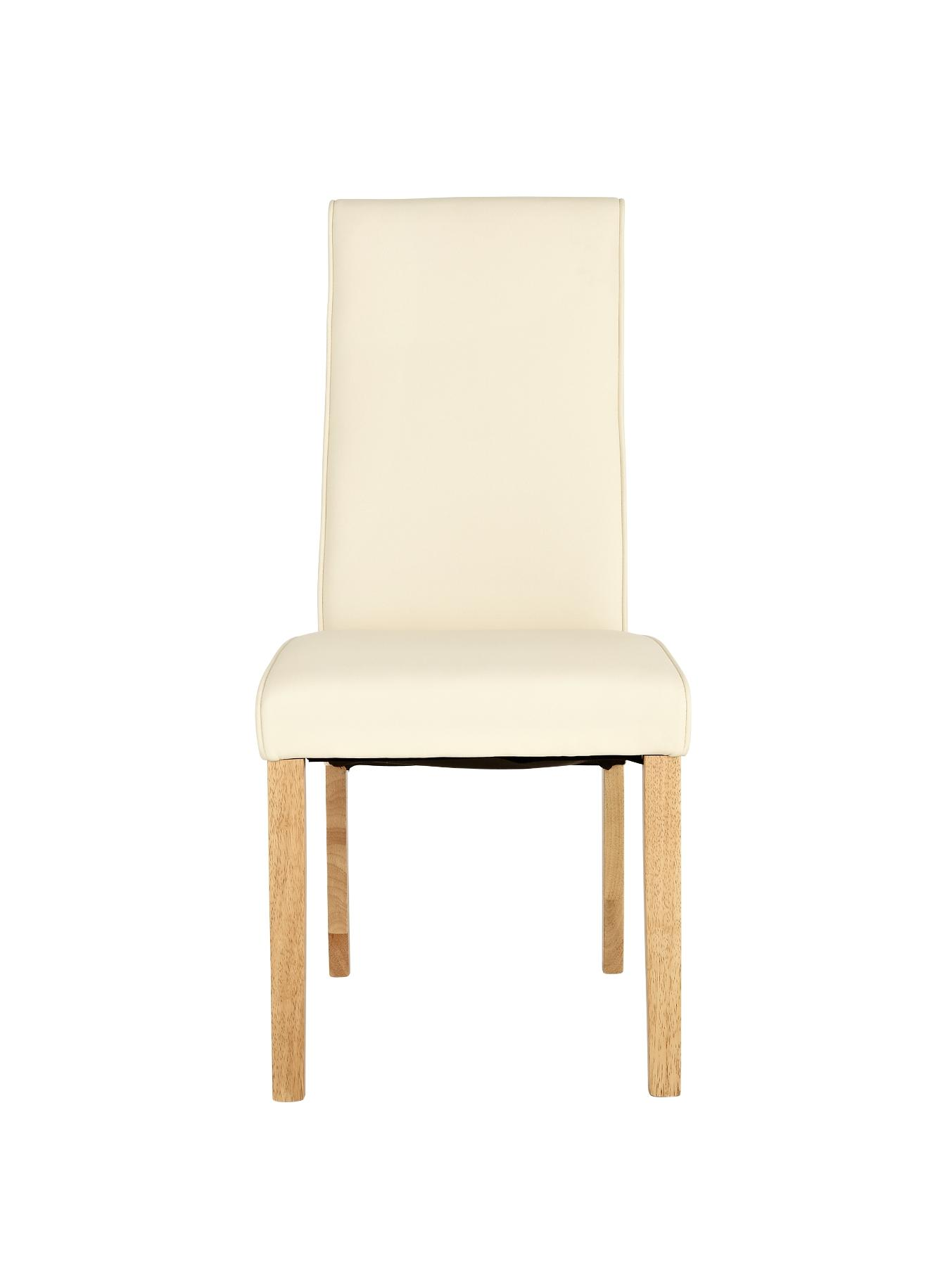 Buckingham Set of 2 Dining Chairs - Cream, Brown,Cream