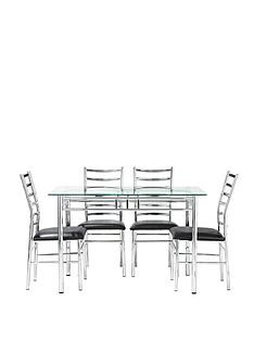 elect-glass-and-chrome-120-cm-dining-table-4-chairs