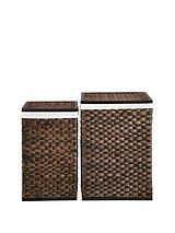 Water Hyacinth Laundry Hampers (Set of 2)