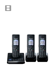 panasonic-kx-tg8563eb-telephone-with-answering-machine-triple-pack