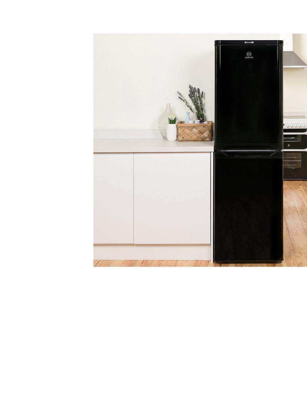 indesit caa55k 55cm fridge freezer black. Black Bedroom Furniture Sets. Home Design Ideas
