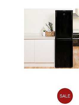 indesit-caa55k-55cm-fridge-freezer-black