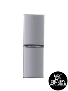 swan-sr5310s-55cm-frost-free-fridge-freezer-silver-next-day-delivery
