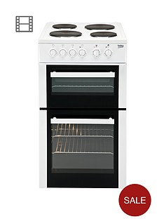 beko-bd533aw-50cm-single-fan-oven-electric-cooker-white
