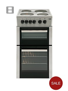 beko-bd533as-50cm-single-fan-oven-electric-cooker-silver