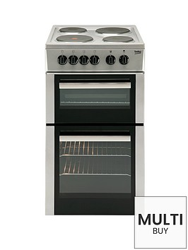beko-bd533as-50cm-single-fan-oven-electric-cooker-with-connection-silver