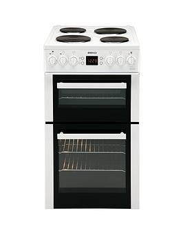 beko-bdv555aw-50cm-double-oven-electric-cooker-white