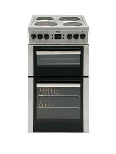 beko-bd555as-50cm-electric-cooker-with-connection-silver