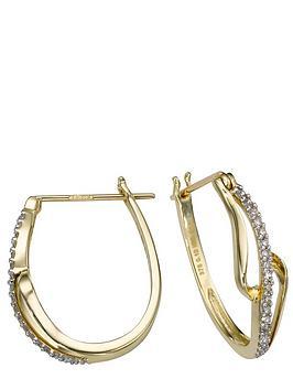 love-gold-9-carat-yellow-gold-diamond-set-twist-earrings