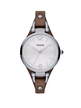 fossil-georgia-tan-leather-strap-ladies-watch