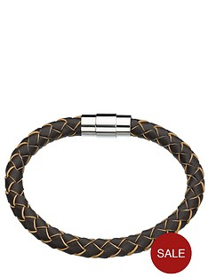 brown-leather-look-magnetic-mens-bracelet