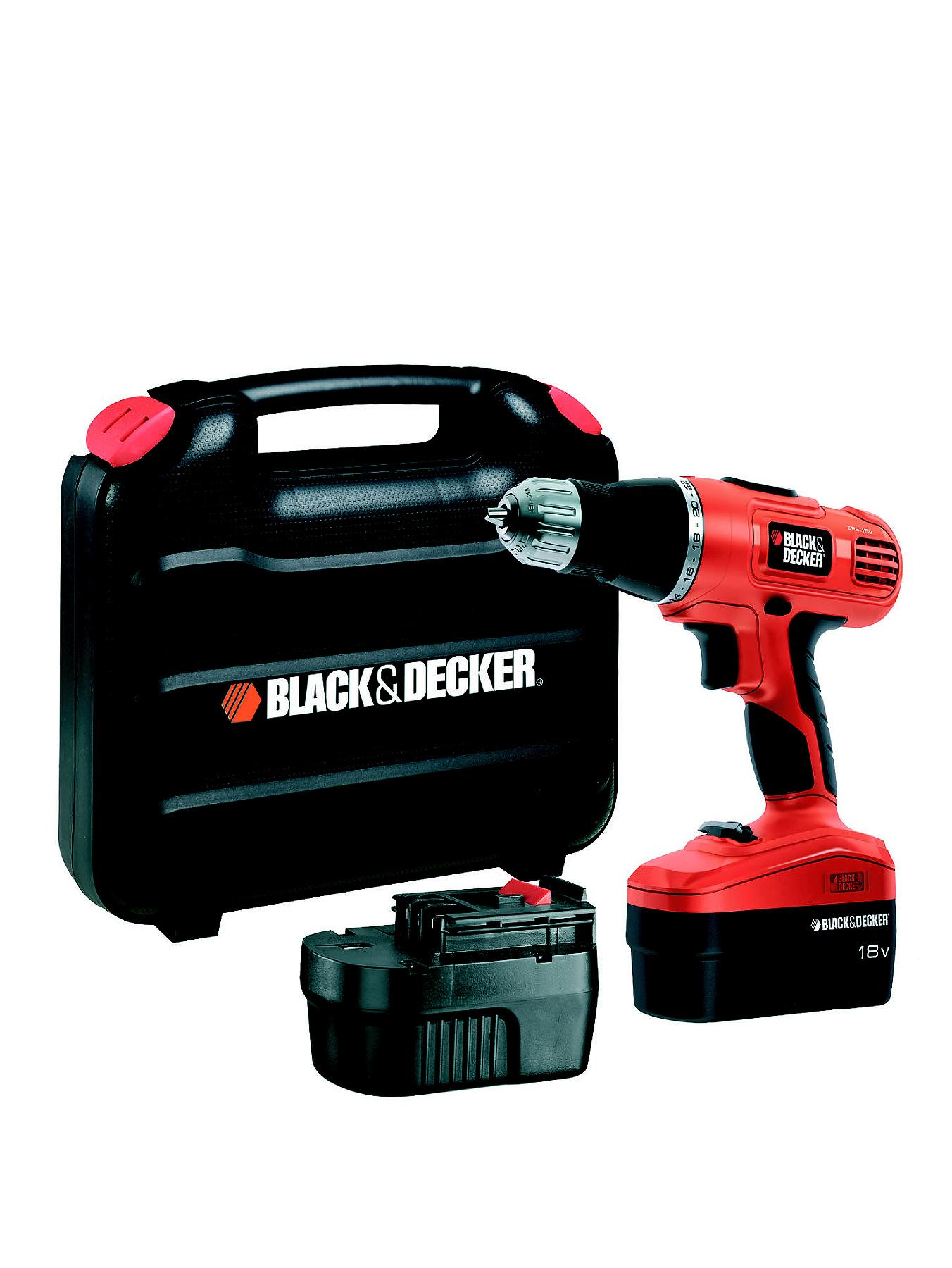 Black & Decker EPC188BK-GB 18V Combi Drill/Driver With 2 Batteries