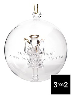 personalised-glass-angel-bauble-christmas-tree-decoration