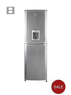 beko-cfd5834aps-55cm-frost-free-fridge-freezer-next-day-delivery-silver