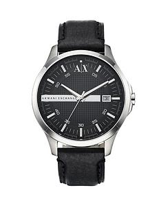 armani-exchange-black-leather-strap-mens-watch
