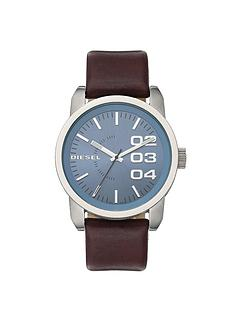 diesel-franchise-brown-leather-strap-mens-watch