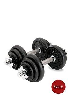 york-15kg-black-cast-iron-dumbbell-set