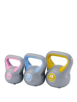 york-2-3-4kg-vinyl-kettlebell-set
