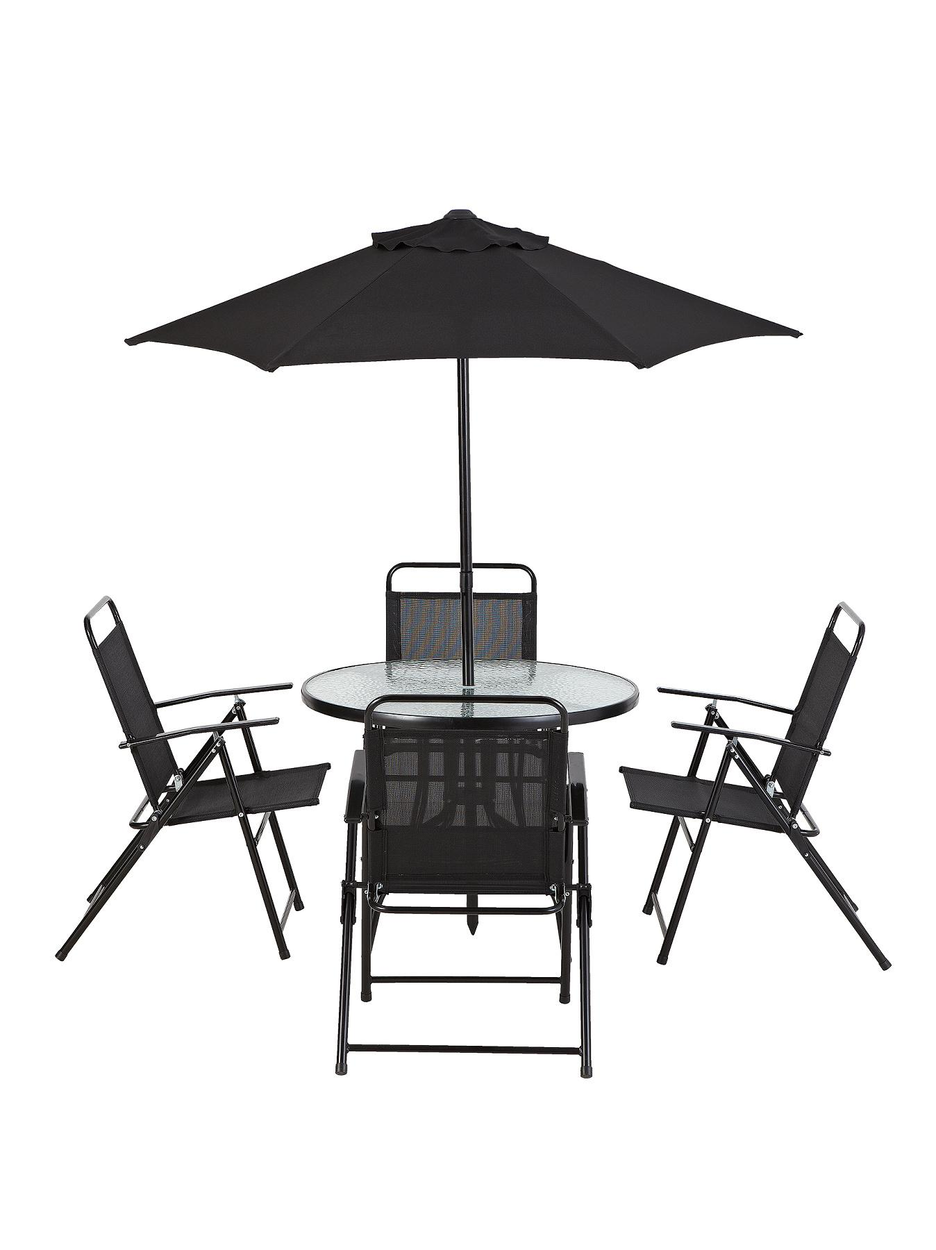 Cuba 6-Piece Dining Set - Black