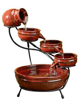 smart-solar-powered-4-tier-cascading-fountian-red