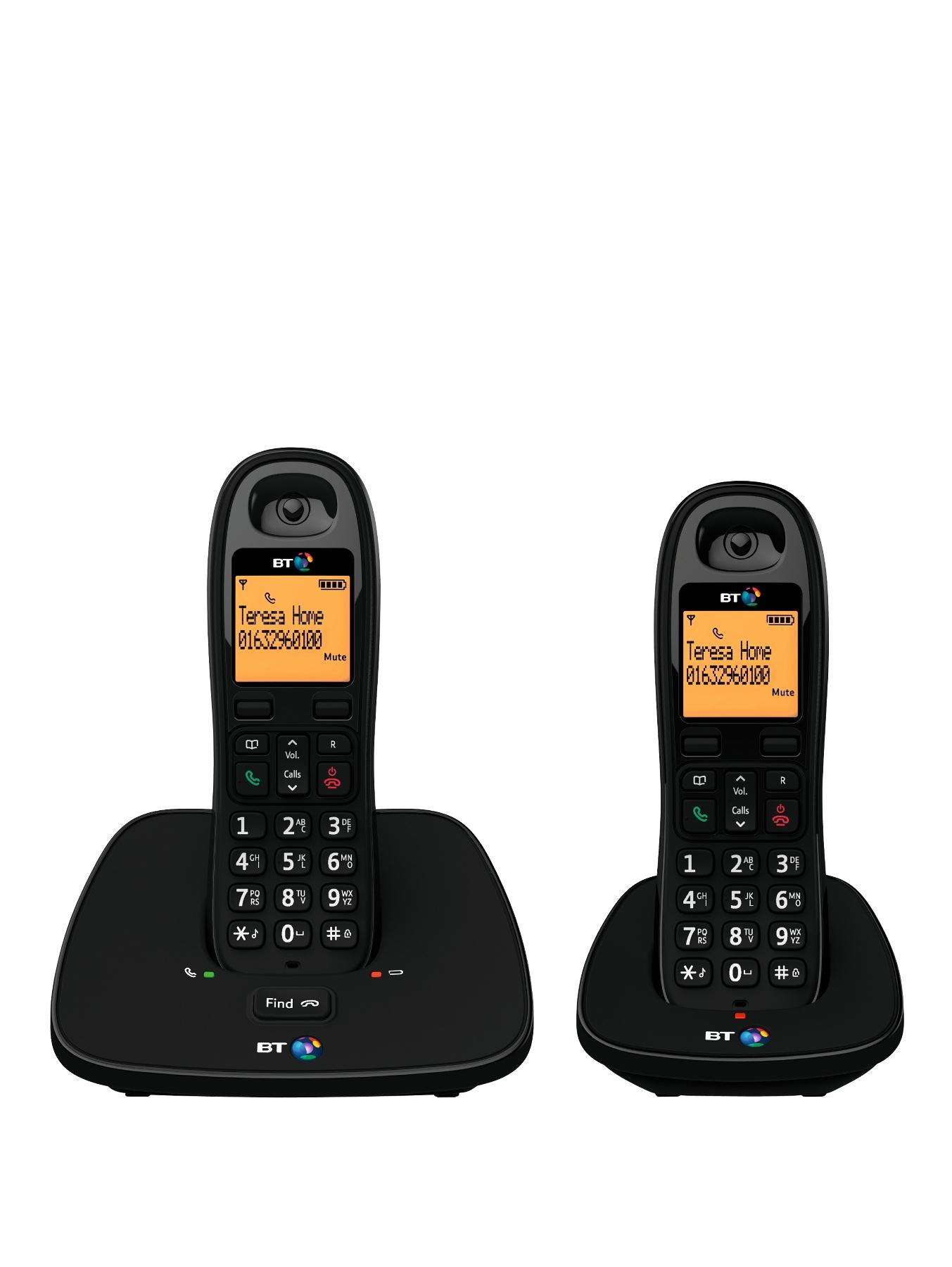 BT 1000 Cordless Telephone - Twin Pack