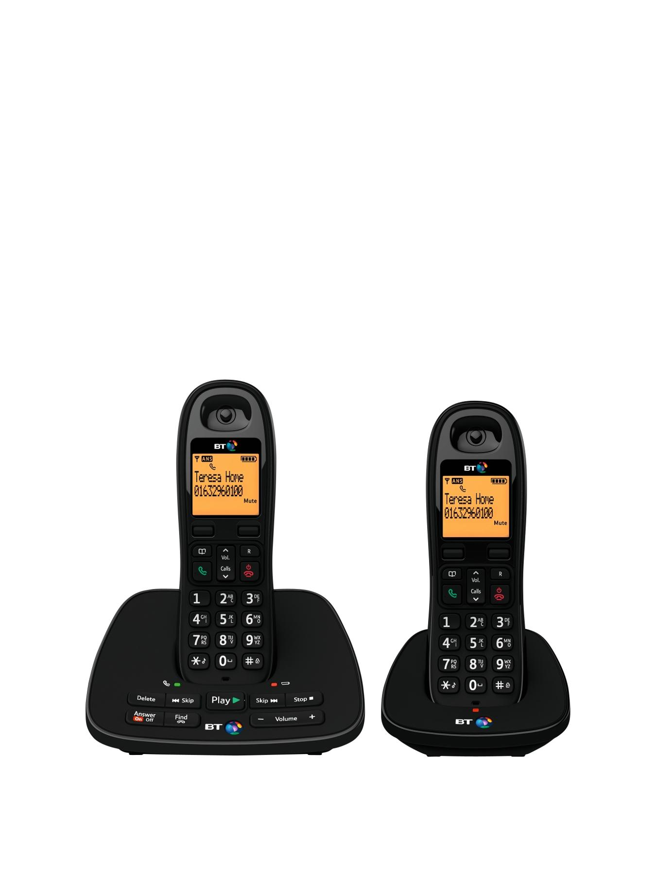 BT 1500 Cordless Telephone with Answering Machine - Twin Pack