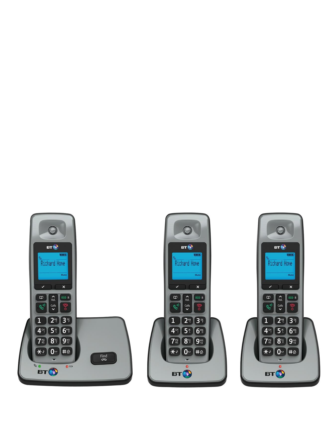 BT 2000 Cordless Telephone - Trio Pack
