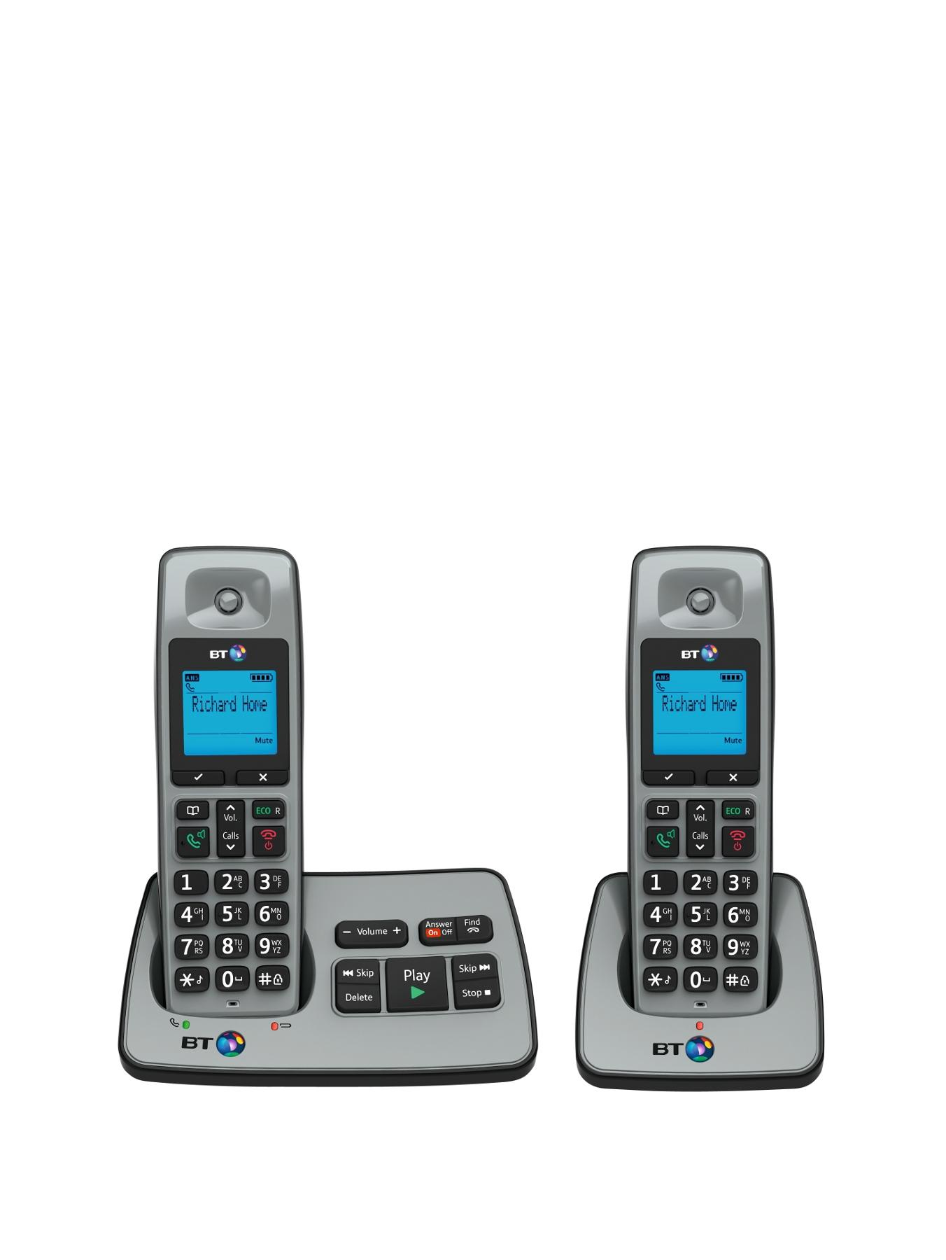BT 2500 Cordless Telephone with Answering Machine - Twin Pack